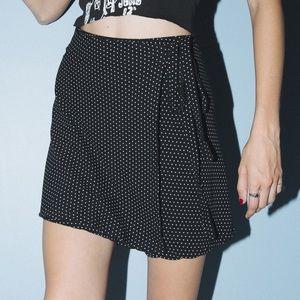 Brandy Melville Genevieve Polka Dot Wrap Skirt